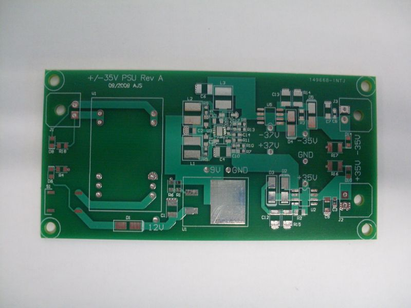 Piezo Amp HV Supply Rev A PCB